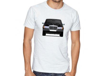 pánské bílé tričko Mercedes Benz W123