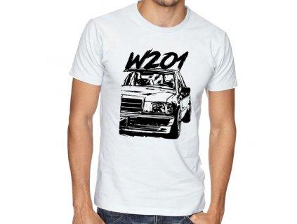 pánské bílé tričko Mercedes Benz W201