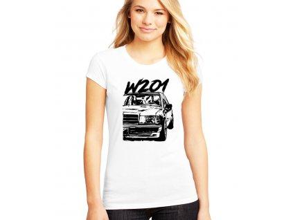 dámské bílé tričko Mercedes Benz W201