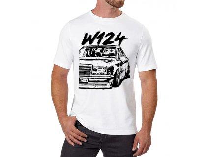 pánské bílé tričko Mercedes Benz W124