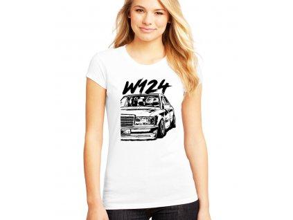 dámské bílé tričko Mercedes Benz W124