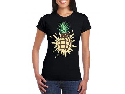 damske tricko Ananas granát