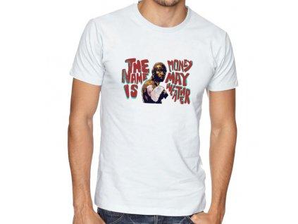 pánské bílé tričko floyd money mayweather