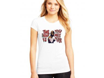 dámské bílé tričko floyd money mayweather