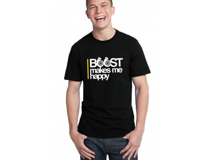 pánské černé tričko Boost mě dělá radost
