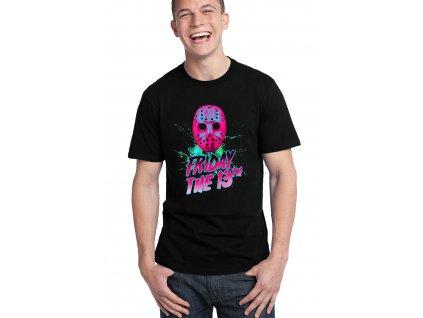 pánské černé tričko pátek 13 je tady