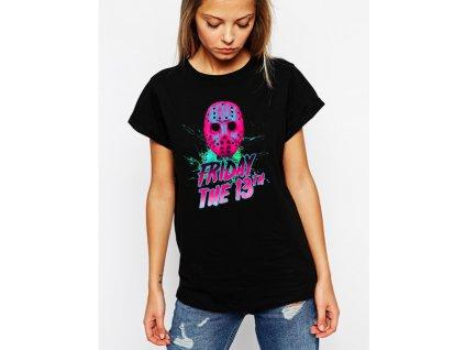 dámské černé tričko pátek 13 je tady