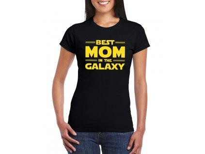 dámské černé tričko nejlepší máma v galaxii
