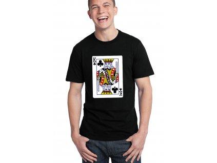 pánské černé tričko Král křížový