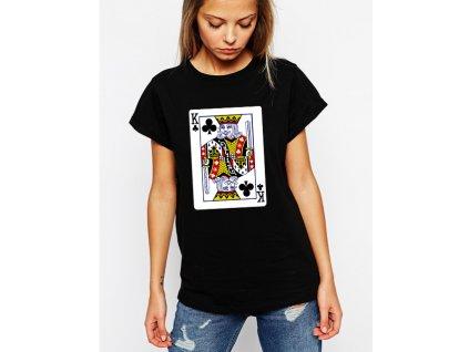 dámské černé tričko Král křížový