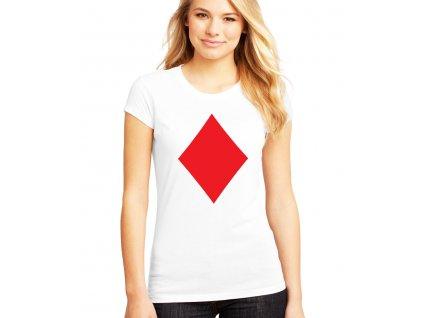 dámské bílé tričko poker káry diamond
