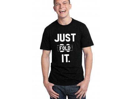 pánské černé tričko poker just fold it
