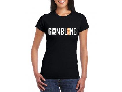 dámské černé tričko gamblerství