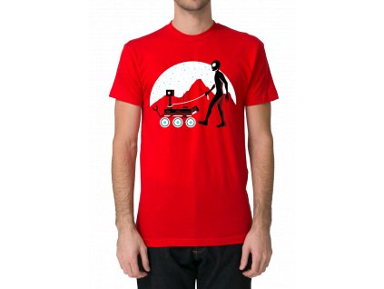 pánské červené tričko marťan - parodie na film marťan