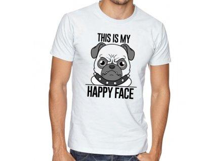 pánské bílé tričko tohle je můj štastný obličej