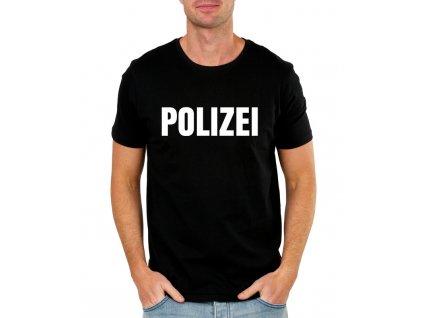 pánské černé tričko polizei