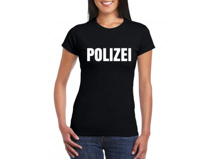 dámské černé tričko polizei