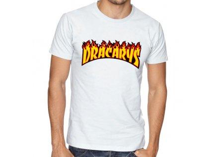 pánské bílé tričko Dracarys Game of thrones