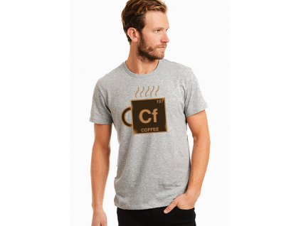 pánské šedé tričko kafe chemická značka kafe