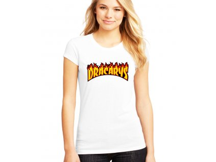 dámské bílé tričko Dracarys Game of thrones