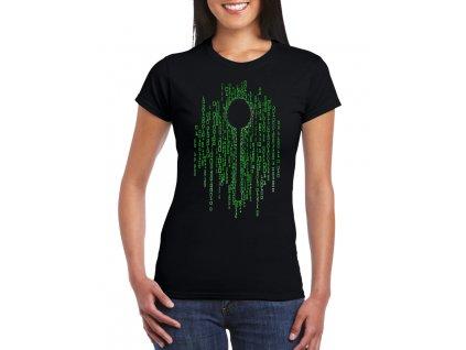 dámské černé tričko matrix lžíce