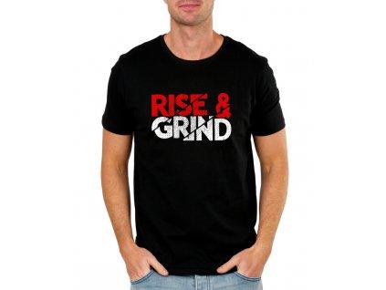 pánské černé tričko růst a makat