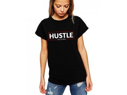 dámské černé tričko hustle