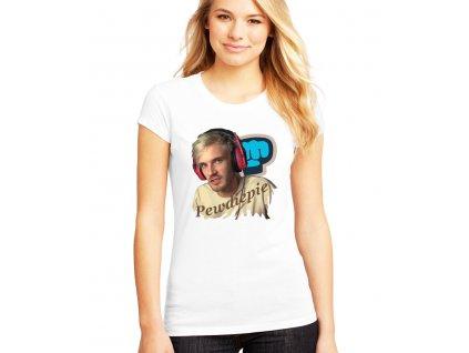 dámské bílé tričko pewdiepie brofist