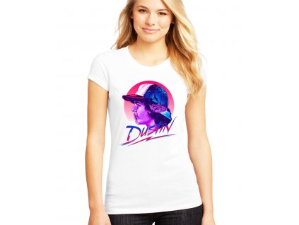 dámské bílé tričko Stranger Things Dustin