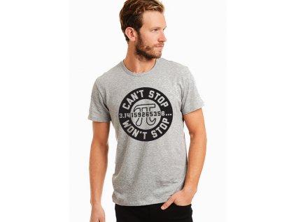 pánské šedé tričko číslice pí