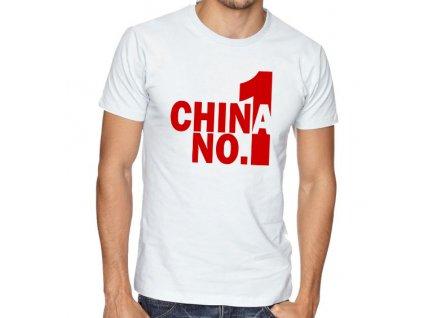 pánské bílé tričko pubg china number one