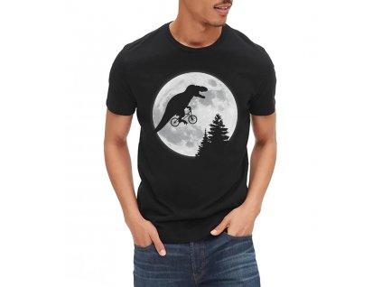 Pánské černé tričko t rex moon