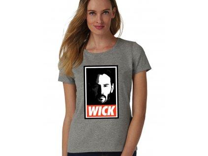 dámské šedé tričko john wick