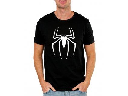 pánské černé tričko spiderman pavouk