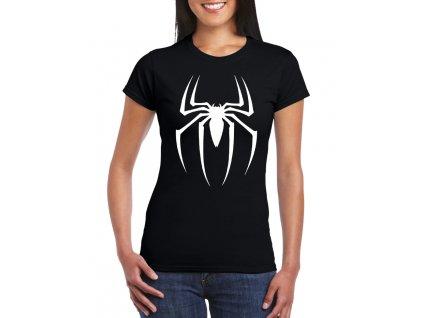 dámské černé tričko spiderman pavouk