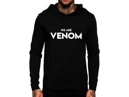 unisex černá mikina s kapucí my jsme Venom