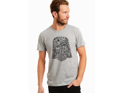 pánské šedé tričko starwars, darth wader maska