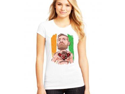 dámské bílé tričko conor mcgregor irsko