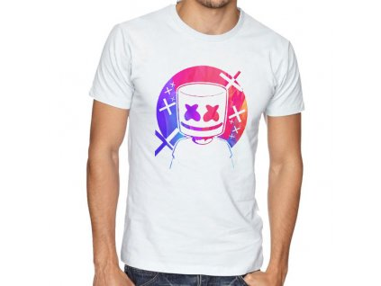 pánské bílé tričko marshmello