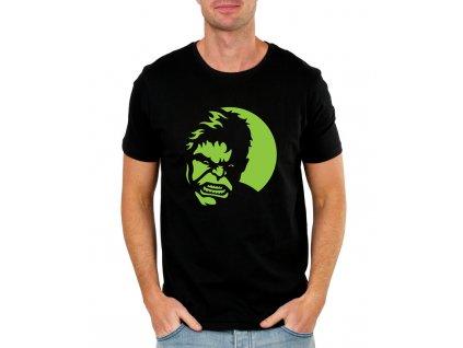 pánské černé tričko hulk