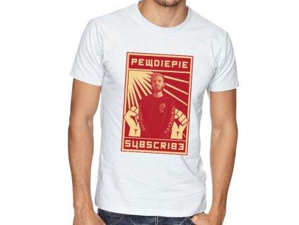 pánské bílé tričko pewdiepie odběratelé