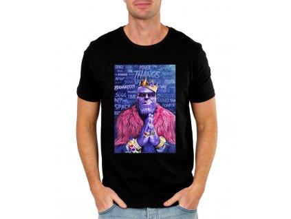 pánské černé tričko thanos - avengers