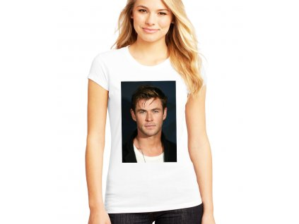 Dámské bílé tričko chris hemsworth