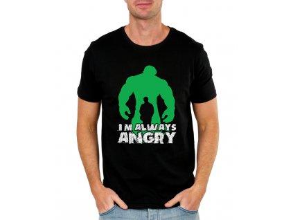 Pánské černé tričko Hulk pořád jsem naštvaný