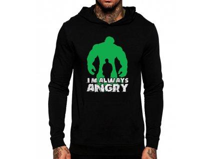 Unisex mikina s kapucí Hulk pořád jsem naštvaný