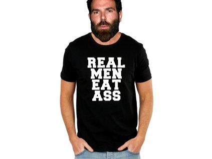 pánské černé tričko opravdový muž jí zadek