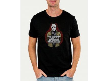 pánské černé tričko obětí zdarma - pátek třináctého horor