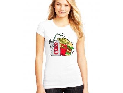 Dámské tričko Kola hranolky hamburger