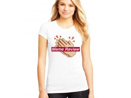 dámské bílé tričko pewdiepie meme review