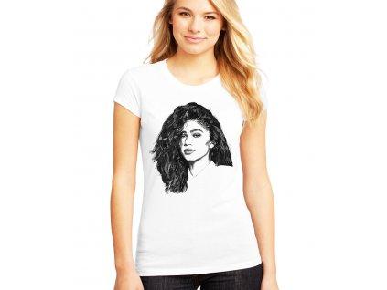 dámské bílé tričko zendaya